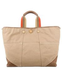 Ghurka - 2016 Leather-trimmed Tote Khaki - Lyst