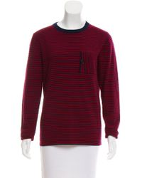 Band of Outsiders - Wool Striped Sweater - Lyst