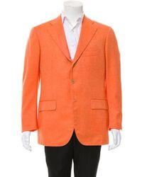 Cesare Attolini - Cashmere Three-button Blazer Orange - Lyst