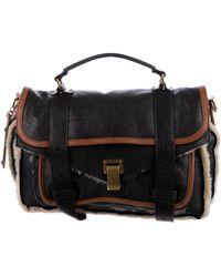 Proenza Schouler - Shearling & Leather Ps1 Satchel Black - Lyst
