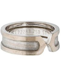 7bcb3115a4a Lyst - Cartier Lanières Ring White in Metallic