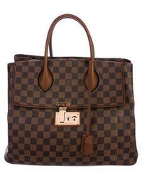 Louis Vuitton - Damier Ebene Ascot Bag Tan - Lyst