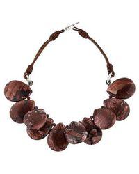 Brunello Cucinelli - Jasper Beaded Collar Necklace Silver - Lyst