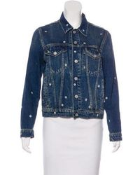 AMO - Embroidered Denim Jacket - Lyst