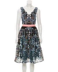 Peter Pilotto - Sleeveless Printed Midi Dress Multicolor - Lyst