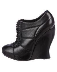 Nina Ricci - Leather Wedge Booties - Lyst