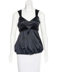 John Galliano - Sleeveless Velvet-trimmed Top - Lyst