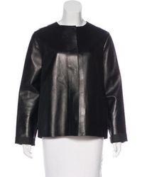 The Row - Collarless Leather Jacket - Lyst