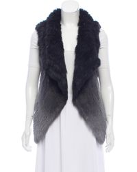 Yves Salomon - Knitted Fur Vest Black - Lyst