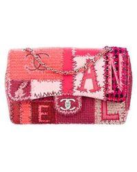 97fede076ef5 Chanel - 2016 Patchwork Classic Jumbo Single Flap Bag Pink - Lyst