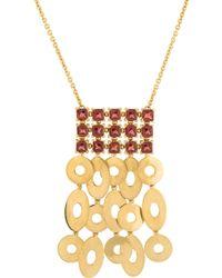 bvlgari garnet collar necklace yellow lyst