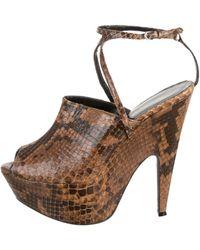 Narciso Rodriguez - Snakeskin Mia Platform Sandals - Lyst