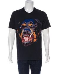 Givenchy - Sequin Rottweiler T-shirt - Lyst