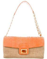 Kara Ross - Python-accented Shoulder Bag Orange - Lyst