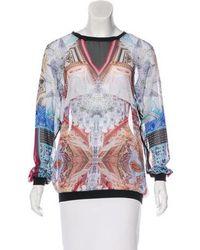 Clover Canyon - Semi-sheer Printed Sweatshirt Multicolor - Lyst