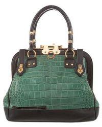 Zac Posen - Crocodile Aurora Bag Gold - Lyst