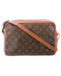 Louis Vuitton - Vintage Monogram Crossbody Bag Brown - Lyst ed69ea35aefd7