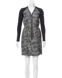 Behnaz Sarafpour - Tweed Mini Dress W/ Tags Black - Lyst