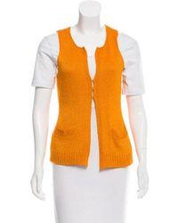 Donna Karan - Silk Knit Vest Orange - Lyst