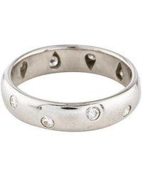 aa008d5fca76 Lyst - Tiffany   Co Platinum Diamond Wedding Band in Metallic