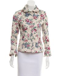 Luisa Beccaria - Floral Structured Blazer Multicolor - Lyst