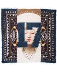 Givenchy - Rottweiler Wool Scarf Navy - Lyst