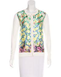 Nina Ricci - Silk Printed Cardigan Multicolor - Lyst