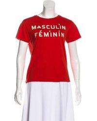 Clare V. - Masculin Féminin Graphic T-shirt - Lyst