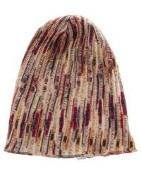 c396f847884 Lyst - Missoni Knit Pom-pom Beanie Multicolor in Blue