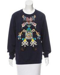 Mary Katrantzou - Tiki Man Embroidered Sweatshirt - Lyst