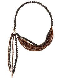 Brunello Cucinelli - Agate & Bead Multistrand Necklace Silver - Lyst