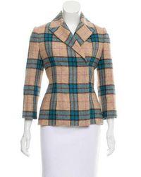 Emilia Wickstead - Structured Wool Jacket Tan - Lyst