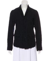 Pas De Calais - Distressed Wool Blazer Navy - Lyst