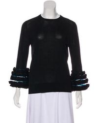Toga Pulla - Ruffle-accented Crew Neck Sweater - Lyst