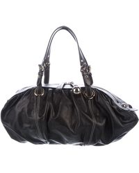 Boutique Moschino - Pleated Leather Shoulder Bag Black - Lyst
