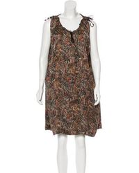 Étoile Isabel Marant - Silk Printed Dress Multicolor - Lyst