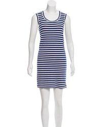 Junya Watanabe - Striped Mini Dress Blue - Lyst