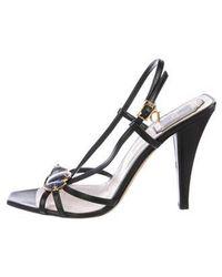 172680cd47f5cc Dior - Stone-embellished Slingback Sandals Black - Lyst