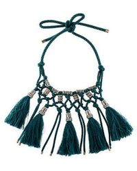 Lanvin - Veruschka Multitassel Collar Necklace Silver - Lyst