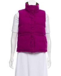 Kate Spade - Wool Puffer Vest Purple - Lyst