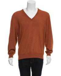 1995b8ed70a1 Lyst - Loro Piana Cashmere V-neck Sweater in Pink for Men