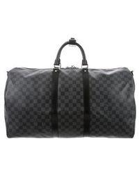 Louis Vuitton - Damier Graphite Bandoulière 55 Black - Lyst