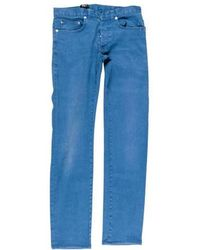 Dior Homme - Painted Skinny Jeans Silver - Lyst