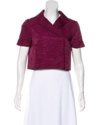 MAX&Co. - Cropped Short Sleeve Jacket - Lyst