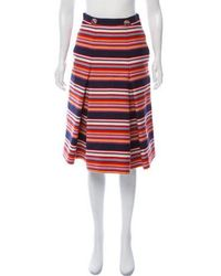 13eae63490191 Lyst - Tory Burch Knit Pencil Skirt Multicolor