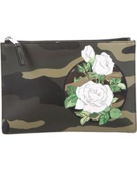 Dior Homme - Embroidered Leather Pouch W/ Tags Olive - Lyst