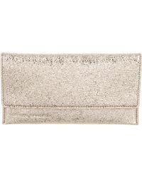 Loeffler Randall - Leather Wallet Gold - Lyst