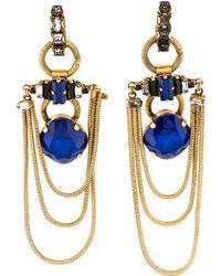 Erickson Beamon - Crystal Chandelier Drop Earrings Gold - Lyst