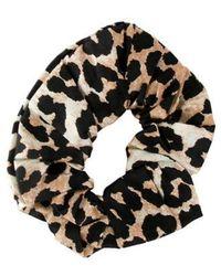 Ganni - Animal Printed Scrunchie W/ Tags Tan - Lyst