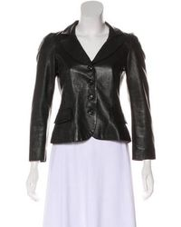 Boutique Moschino - Button-up Leather Jacket - Lyst